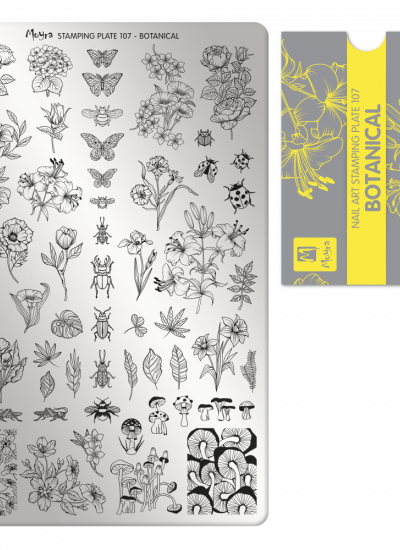 Moyra Big Stamping Plate 107 - Botanical