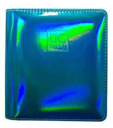 Uberchic Nailart - Teal Holographic Nail Stamp Storage Binder