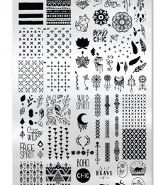 Uberchic Nailart -  Single Stamping Plates - Boho Chic