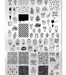 Uberchic Nailart -  Single Stamping Plates - We All Scream For Ice Cream