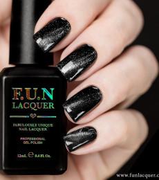 F.U.N Lacquer - 2021 Christmas Collection - Platinum Diamond Magnetic Gel Polish