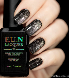 F.U.N Lacquer - 2021 Spring/Summer Collection - Purple Rose Platinum Diamond Magnetic GEL Nailpolish