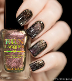 F.U.N Lacquer - 2021 Spring/Summer Collection - Rose Gold Platinum Diamond Magnetic Nailpolish
