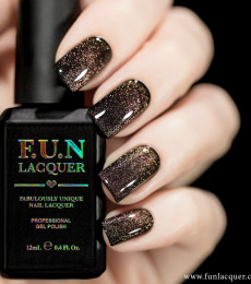 F.U.N Lacquer - 2021 Spring/Summer Collection - Rose Gold Platinum Diamond Magnetic GEL Nailpolish