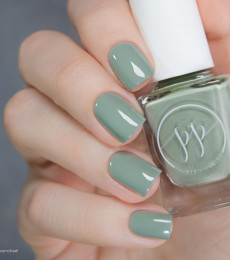 Painted Polish Stamped in Sage