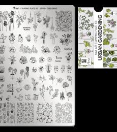 Moyra Big Stamping Plate 105 - Urban Gardening