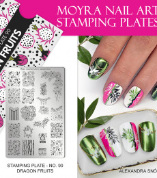 Moyra Big Stamping Plate 90 Dragon Fruits